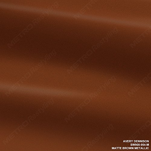 Avery SW900-954-M MATTE BROWN METALLIC 5ft x 15ft (75 Sq/ft) Supreme Vinyl Car Wrap Film
