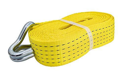 Petex 43193519 Spanngurt ohne Ratsche 1-teilig, 7,6 m, 50 mm, 2500/5000 daN, Doppelspitzhaken, gelb