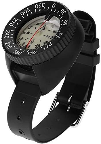 Reloj portátil de la brújula de la brújula de la brújula de la brújula de la muñeca de alta precisión Reloj de la brújula impermeable para la orientación del montañismo de la navegación al aire libre