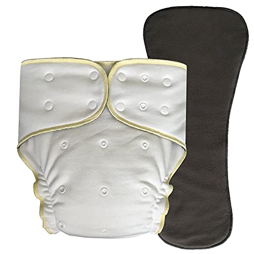 Bamboo Fitted Cloth Diaper: Incontinence Special Needs Washable Protective Briefs with Snap-in Insert for Women, Men and Big Kids (Fitted Diaper with Insert, Regular)