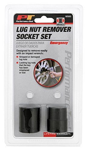 "Performance Tool M980 SAE Emergency Lug Nut Removal Set, 13/16"" and 1"" sizes"