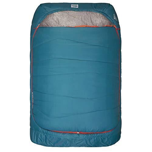 Kelty Tru.Comfort, sacco a pelo doppio, 20 gradi, per due persone, in materiale sintetico, per coppie e campeggio in famiglia, sacco a pelo incluso