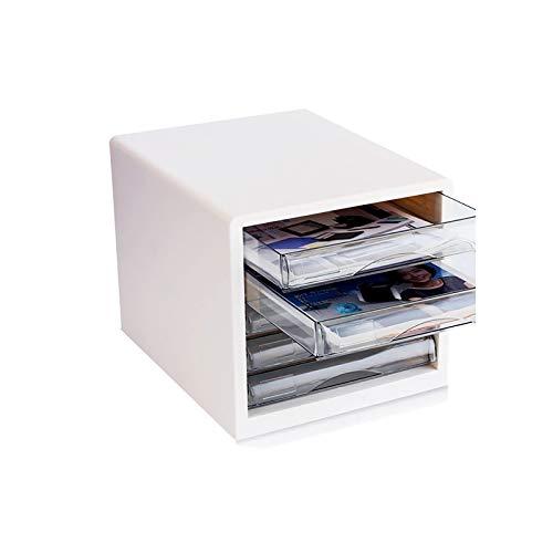 QSJY La presentación de los cajones de Escritorio, cajonera de Escritorio con Cerradura, cajón Conjunto de Empresa/Escuela/Oficina/Centro Comercial/Hospital (Color : Blue, Size : 27×34×25.5CM)