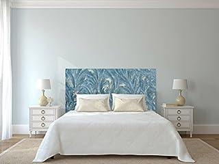 Cabecero Cama PVC Vegetación Azul | Varias Medidas 150x60cm | Fácil colocación | Decoración Habitación | Motivos paisajisticos | Naturaleza | Urbes | Multicolor | Diseño Profesional