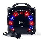 Singing Machine SML283BK - Reproductor de CDG portátil de Karaoke Plug-n-Play con CD extra extra negro