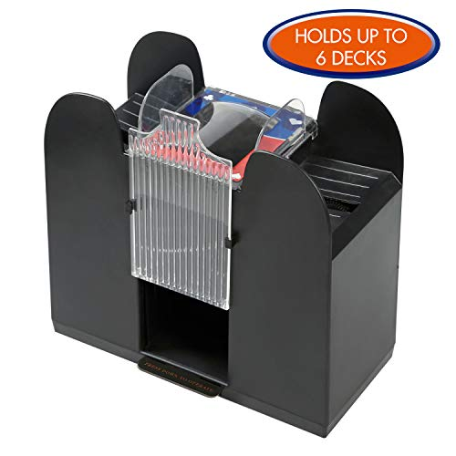 Premium Automatic Card Shuffler by Rally and Roar - Battery Operated, Holds up to 6 Decks, Professional Cards Shuffling Machine - Shuffles Quickly, Portable Casino Card Shuffler - Fits Standard Size