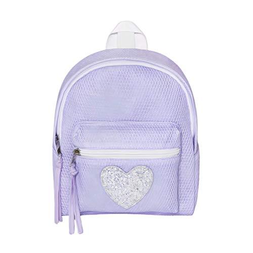 Girls' Heart Sequin Applique Solid Purple Lavender Mini Backpack Purse Handbag - Cat & Jack