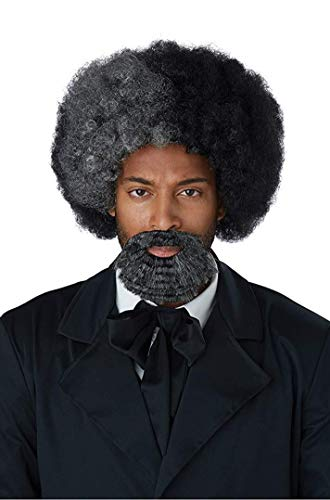 California Costumes Men's Frederick Douglass Wig and Goatee-Adult, Black/Gray, One Size