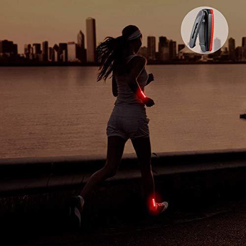 DFKDGL Lumières de sécurité LED Rechargeables USB (Pack de 2) - Clips Lumineux stroboscopiques pour Coureurs, Joggeurs, Marcheurs, Enfants, Chiens, Accessoires de vélo