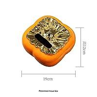 クリエイティブオレンジ柿セラミックティッシュボックス灰皿モダンキャンディー収納ポットリビングルームダイニングテーブルコーヒーテーブルデコレーション-ティッシュボックス
