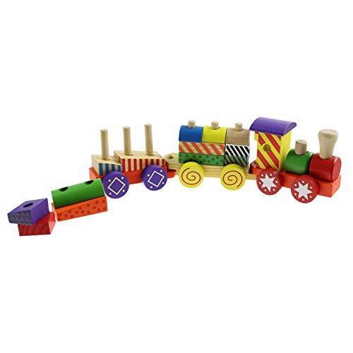 Toys- Chemin de Fer-Jeu de Train en Bois, 49316, Taille 38