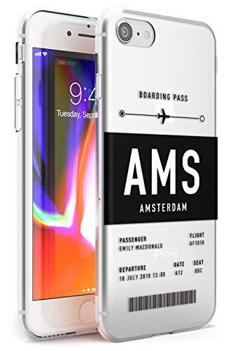 Personalizzata Aereo Biglietto: Amsterdam Slim Cover per iPhone 5 TPU Protettivo Phone Leggero con Personalizzato Viaggiatore Wanderlust Aereo
