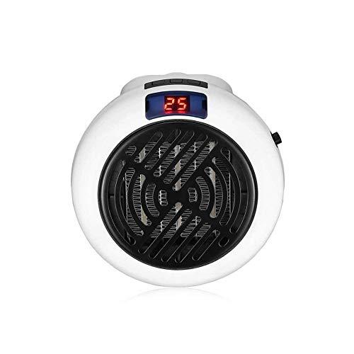 Hewyhat - Mini calentador de pared portátil con toma de corriente de pared, pequeño manejable para la casa y los desplazamientos, color negro