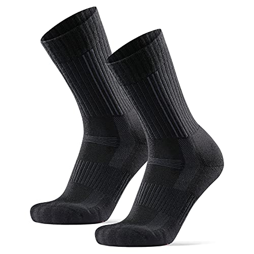 Calcetines Premium de Senderismo 2 pares (Negro, EU 43-47)