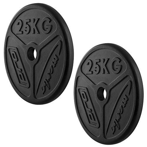 Marbo Sport Olympia Hantelscheiben aus Gusseisen Set 50 kg / 2 x 25 kg MW-2x25KG-OLI