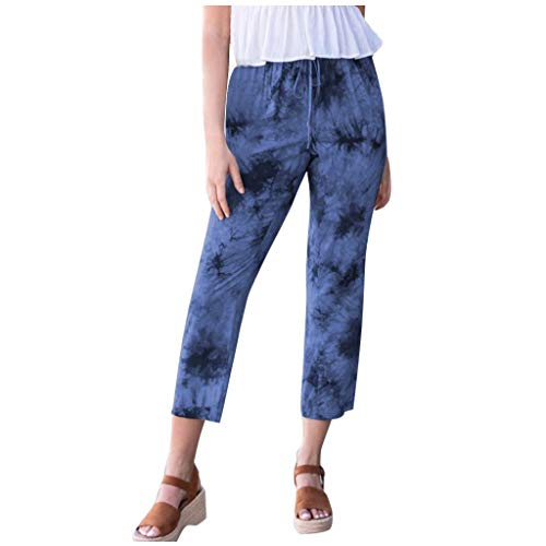 Best Bargain Dainzusyful Pants for Women Print Drawstring Casual Active Elastic Waist Baggy Workout ...