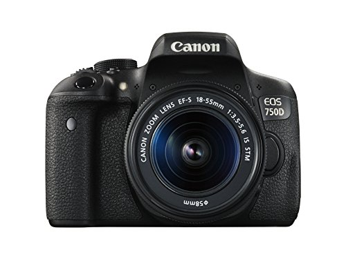 Canon EOS 750D - Cámara réflex digital de 24.2 MP (Kit con objetivo EF-S 18-55 mm f/3.5-5.6 IS STM, pantalla...