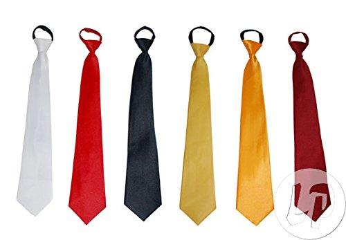 Fiesta Palace - cravate unie rouge 46cm