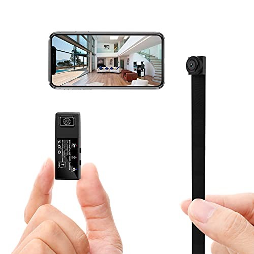 Mini Spy Hidden Camera Wireless WiFi Small Nanny Cam Home Security Surveillance Camera for Home Office Video Recorder with 2 Lens 1080p APP Remote View Motion Detection