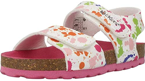 KICKERS SUMMERKRO Sandalias Filles Blanco/Multicolor Sandalias