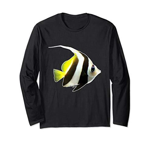 Skalar Segelflosser Aquarienfisch I Hobby Aquaristik Langarmshirt