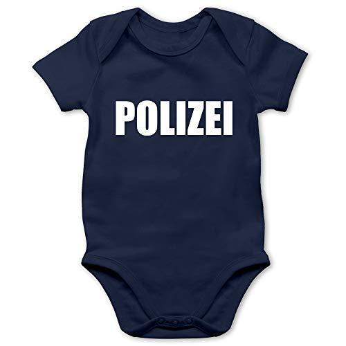Shirtracer Karneval und Fasching Baby - Polizei Karneval Kostüm - 1/3 Monate - Navy Blau - Baby Fasching Junge - BZ10 - Baby Body Kurzarm für Jungen und Mädchen