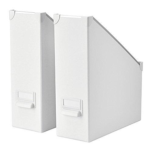 IKEA/イケア FJALLA マガジンファイル2個セット ホワイト 30395665