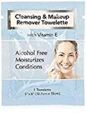 Diamond Wipes Makeup Remover 30 Pack Individual Towelette, Organza Bag