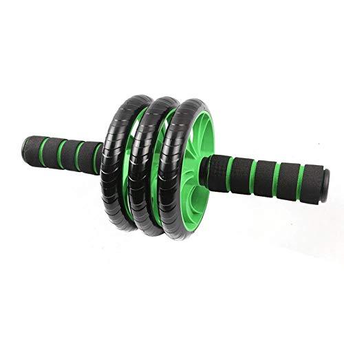 HUYHUY Huyhuytop! -Tres Ruedas AB Rollers Abdominal Ejercicio Abdominal Roller Fitness Inicio Equipo de Entrenamiento Deportivo Unise Fitness Equipment-Black