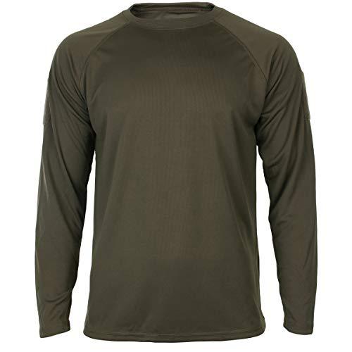 Mil-Tec Tactical Quick Dry Langarmshirt Oliv Gr.XL