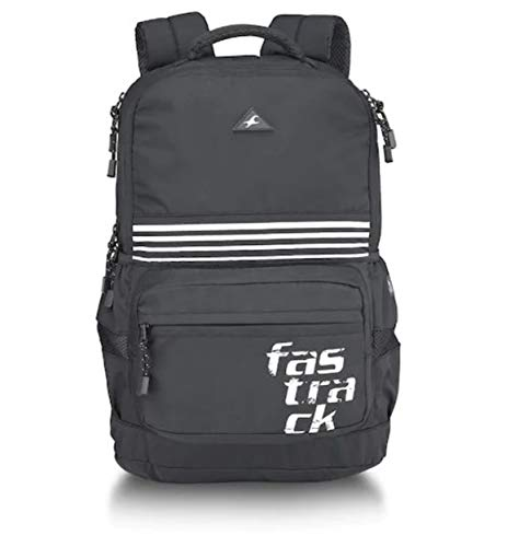 Fastrack 47 cms Black Casual Backpack (A0739NBK01)