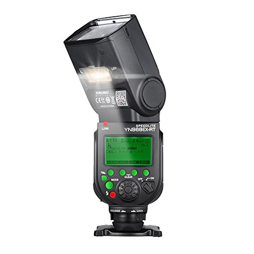 YongNuo yn968ex-rt wireless TTL Master flash Speedlite con LED incorporato 1/8000s HSS per Canon 500D 550D 40D 1000D 1100D 1200D