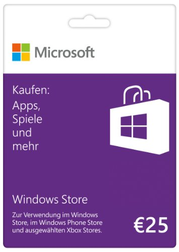 Microsoft Windows Store 25 EUR Guthabenkarte