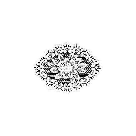 Oval Ecru Lace Color