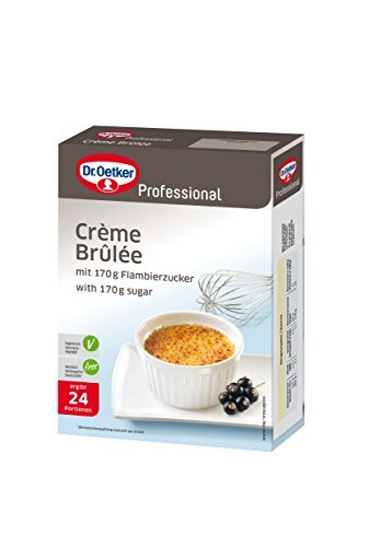 Dr. Oetker Professional Crème Brûlée, Trockenmischung in 0,45 kg Packung mit Flambierzucker