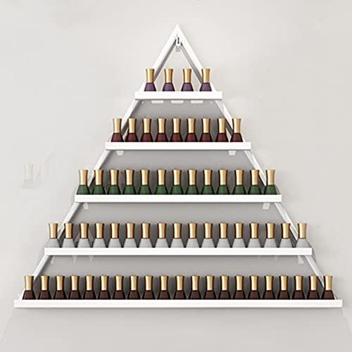 Household items Soporte de exhibición de Esmalte de uñas montado en la Pared Estante de Almacenamiento de Metal, Perfume/Lápiz Labial/Estante de fijación de Almacenamiento de Aceite Esencial