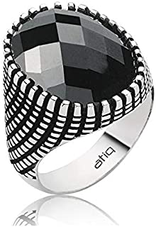 خاتم فضة 925من عتيق للرجال ، Y-20-24-7