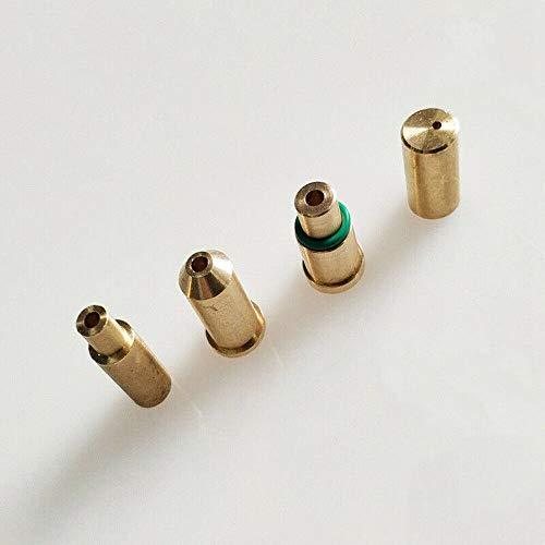BAQI 4 STÜCKE Gas Refill Adapter Messing Gas Nachfülladapter für S T Dupont Feuerzeug Gelb/Rot/Grün/Blau Kappen DIY Reparatur Teil