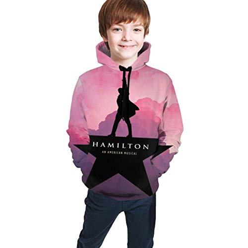 Maichengxuan Hamilton Logo Niños Niñas Adolescentes Manga Larga Sudadera Sudadera Con Capucha Tops