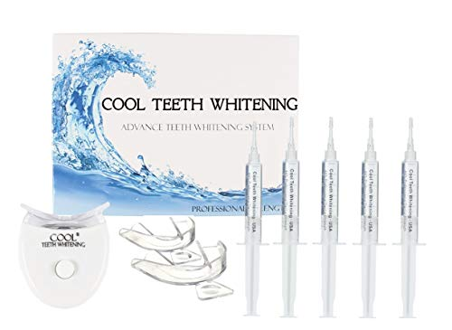 Cool Teeth Whitening Kit Fast Acting Gel for Sensitive Teeth, Led Accelerator...