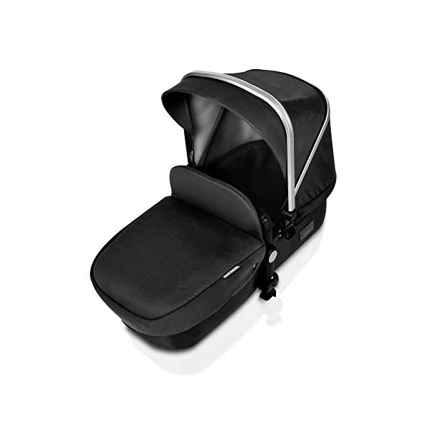 Pushchair 2 in 1,Upgrade Baby Stroller with Independent Seat and Bassinet Combo Pram,Foot muff and Cup Holder 7 Gifts,(Black) HOT MOM INTIMATE SERVICE: FBA prime service,free shipping, 2-year warranty period, accessories parts can be replaced and repaired,180 days unsatisfied full refund.Passed the United States baby stroller Standard Test ASTM F833-15. 7 FREE GIFTS:Stroller seat、bassinet、Rain Cover、mosquito net、Cup holder、Wrist band、car seat adapter.Reversible, you can face your mother, you can also face the outside world. UPGRADED MATERIAL:Say goodbye to Lycra fabric and Oxford fabric,use the upgraded down cotton fabric in the seat,bassinet and canopy design,which is specially designed for the newborn baby's comfort and more skin friendly.Sweet sleep for baby. 6