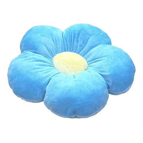 Blumenförmiges Kissen Dicker Plüsch Innen- und Außendekoration, für Leseecke, Schlafzimmer, oder Fernsehen (Blau)
