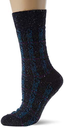 FALKE Damen Gleaming Court W SO Socken, blau (iris 6577), 41-42 (UK 7-8 Ι US 9.5-10.5)