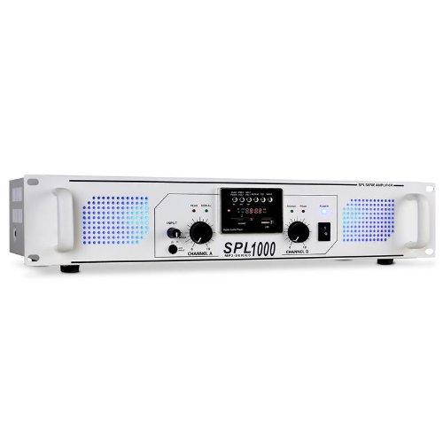 Skytec SPL-1000 Amplificador PA DJ 1000W MP3 USB SD Radio