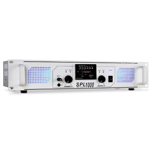 Skytec SPL-1000 Amplificador PA DJ 1000W MP3 USB SD Radio