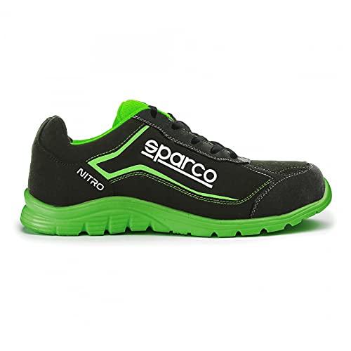 Sparco - Zapatillas Nitro S3 Black/Fluo Gree