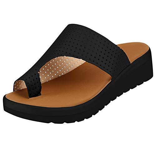 KLHDM Sandalias Correctoras Mujer, Zapatos OrtopéDicos Juanete Corrector CóModa Casuales De Las SeñOras del Dedo Pie CorreccióN Sandalias,001,37EU ✅
