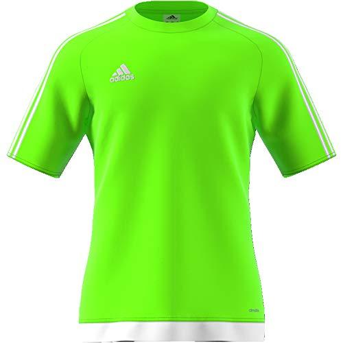 Adidas Men Estro 15 Jersey - Solar Green/White, 2X-Large