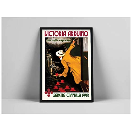 SDGW Berühmte Ölgemälde Poster Pro Kaffee Espresso Victoria Arduino Leinwand Malerei Poster Wandkunst Drucke Poster Bild Home Decor-50X70Cm No Frame