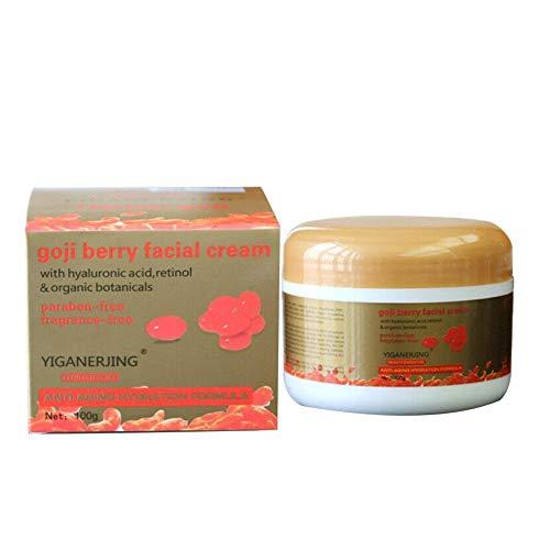 Goji Berry Essence Creme Wolfberry Night Day Gesichtscremes gegen Falten, alternde Gesichtscreme, straffende feuchtigkeitsspendende, hydrataufhellende Hautpflege